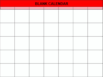 Blank Calendar Template | Calendar Printables Printable Calendar Blank Calendars